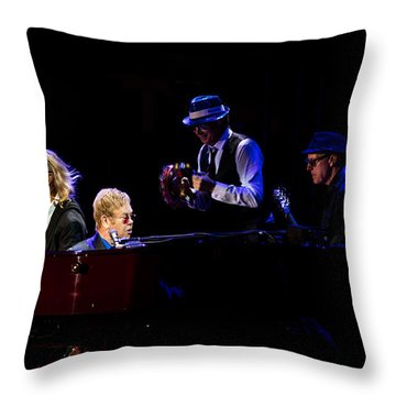 Elton - Gather Round Throw Pillow