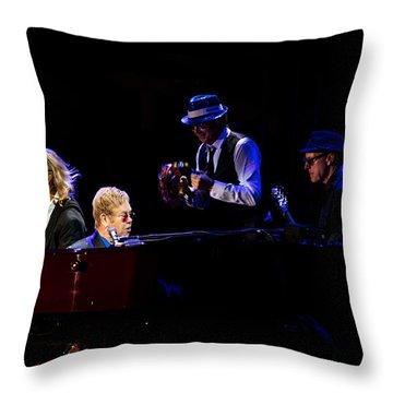 Elton - Gather Round Throw Pillow