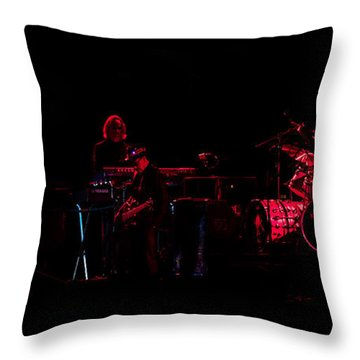 Elton John And Band In 2015 Throw Pillow