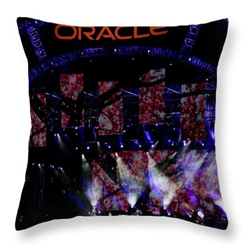 Throw Pillow featuring the photograph Elton John At Oracle Open World In 2015 by Chris Cousins