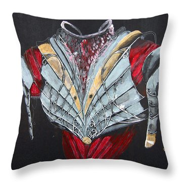 Elven Armor Throw Pillow