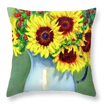 Elvie's Sunflowers Throw Pillow