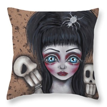 Elvira Throw Pillow by Abril Andrade Griffith