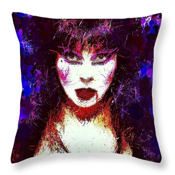Elvira Mistress Of The Dark Throw Pillow