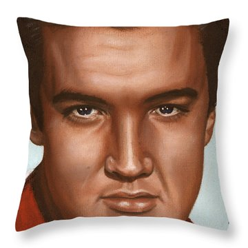 Elvis 24 1958 Throw Pillow by Rob De Vries