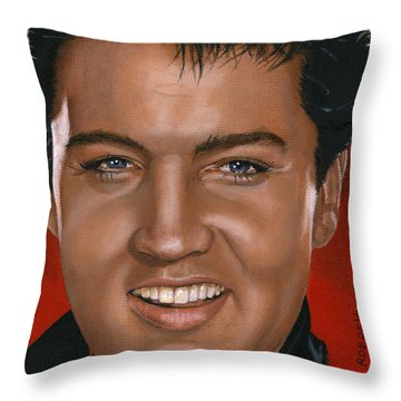 Elvis 24 1964 Throw Pillow by Rob De Vries