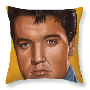 Elvis 24 1965 Throw Pillow by Rob De Vries