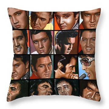 Elvis 24 Throw Pillow by Rob de Vries