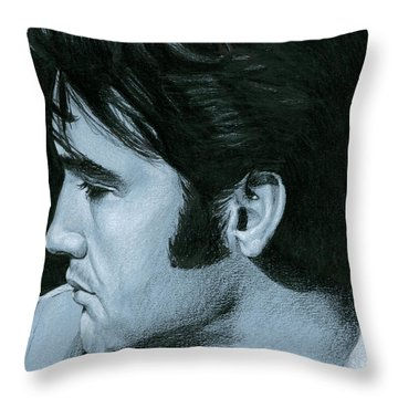 Elvis 68 Revisited Throw Pillow