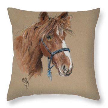 Elvis At The Morgan Horse Ranch Of Prns Throw Pillow