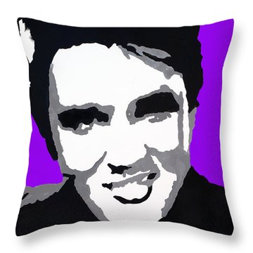 Throw Pillow featuring the drawing Elvis Don't Live Here Anymore by Robert Margetts