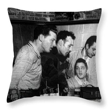 Elvis, Jerry Lee, Johnny Cash Sun Studio Memphis  Throw Pillow