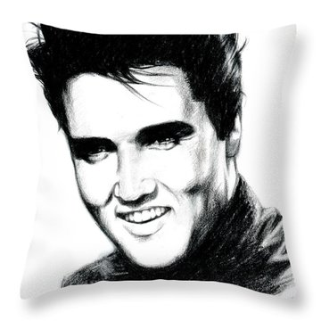 Elvis Throw Pillow by Lin Petershagen