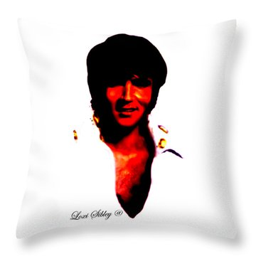 Elvis By Loxi Sibley Throw Pillow