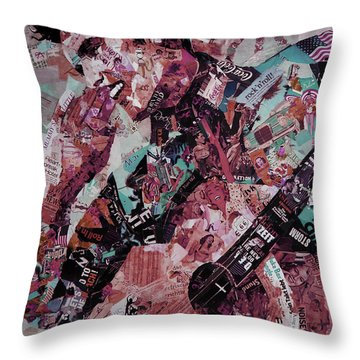 Elvis Presley Collage Art 01 Throw Pillow by Gull G