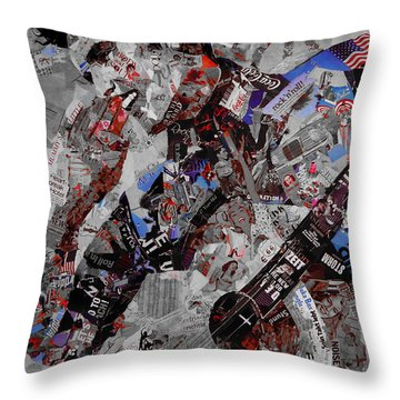Elvis Presley Collage Throw Pillow by Gull G