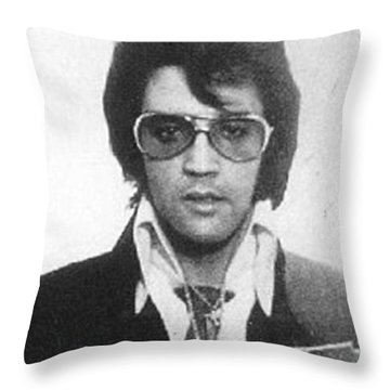 Elvis Presley Mug Shot Vertical Throw Pillow