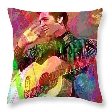 Elvis Rockabilly  Throw Pillow