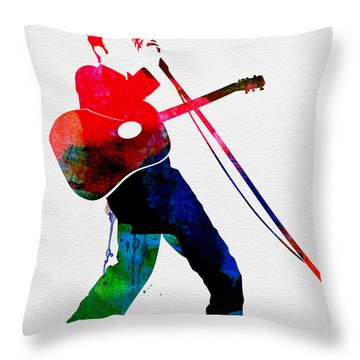 Elvis Watercolor Throw Pillow