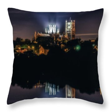 Ely Cathedral By Night Throw Pillow