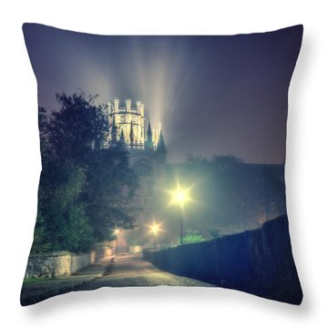 Throw Pillow featuring the photograph Ely Cathedral - Night by James Billings