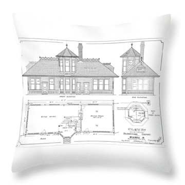Elyria, Oh Station Throw Pillow