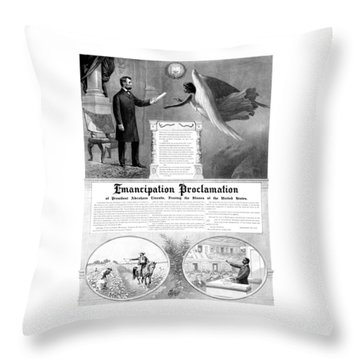 Emancipation Proclamation Throw Pillow by War Is Hell Store