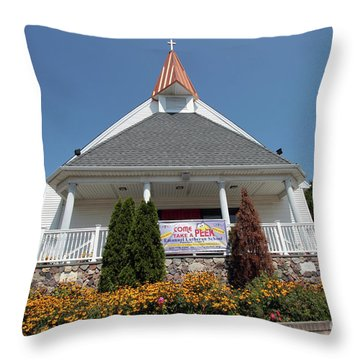 Emanuel Lutheran Church  Patchogue Ny Throw Pillow