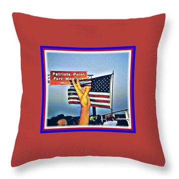 Emanuel9 Walk Iconic July 4th Captured  Throw Pillow