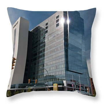 Throw Pillow featuring the photograph Embassy Suites 2916 by Guy Whiteley