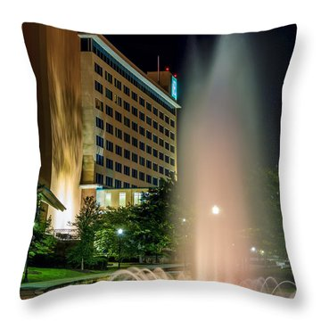 Throw Pillow featuring the photograph Embassy Suites Huntsville by David Morefield