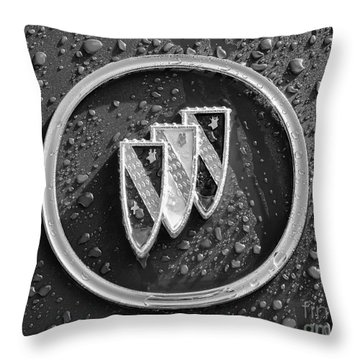 Throw Pillow featuring the photograph Emblem Mono by Dennis Hedberg