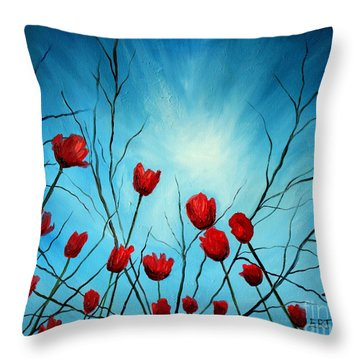 Embrace Throw Pillow by Elizabeth Robinette Tyndall