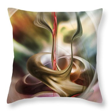 Throw Pillow featuring the digital art Embrace In Pastel by Johnny Hildingsson