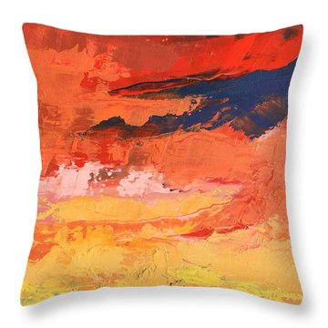 Embrace Throw Pillow by Nathan Rhoads