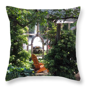 Embrace Spring Throw Pillow by Teresa Schomig