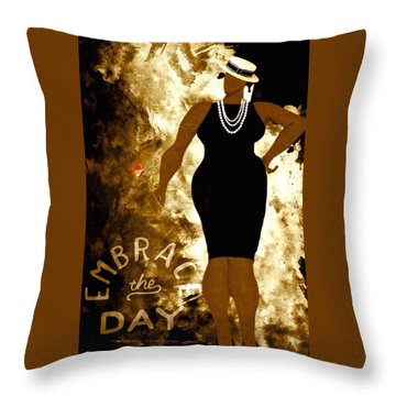 Embrace The Day Throw Pillow