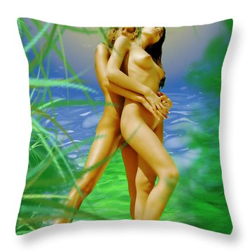 Embraced Throw Pillow by Tbone Oliver
