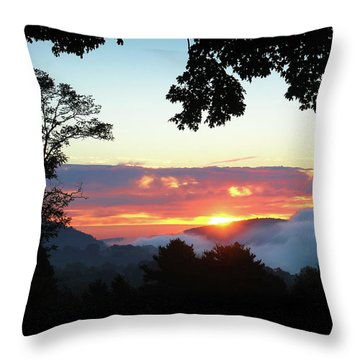 Embracing The Dawn Throw Pillow