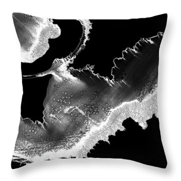 Embryo Throw Pillow by Murray Bloom