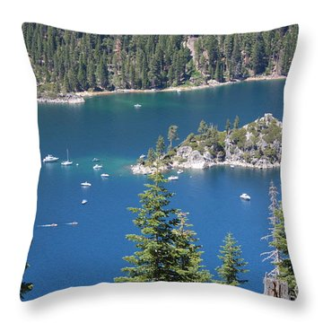 Emerald Bay Throw Pillow by Carol Groenen
