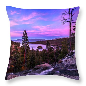 Emerald Bay Dreaming By Brad Scott Throw Pillow
