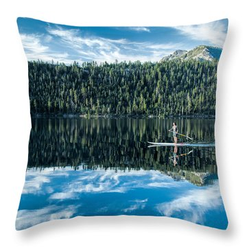 Emerald Bay Morning Throw Pillow