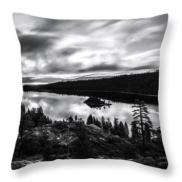 Emerald Bay Rays Black And White By Brad Scott Throw Pillow