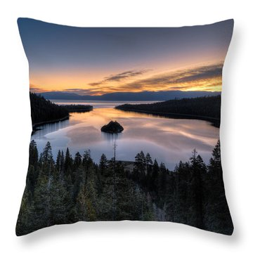 Emerald Bay Sunrise Throw Pillow