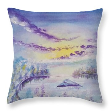 Emerald Bay Winter Throw Pillow
