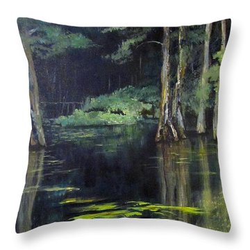 Emerald Bayou Throw Pillow