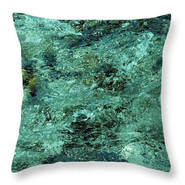 The Emerald Beauty Throw Pillow