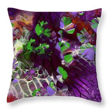 Emerald Butterflies Of Costa Rica Throw Pillow