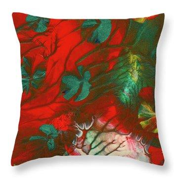 Emerald Butterfly Island Throw Pillow